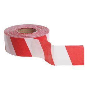 Лента оградительная, красно-белая,ширина 7,5 см, 500 м Ош