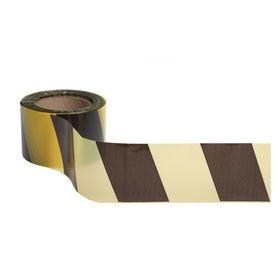 Лента оградительная, чёрно-желтая, ширина 7,5 см, 100 м Ош