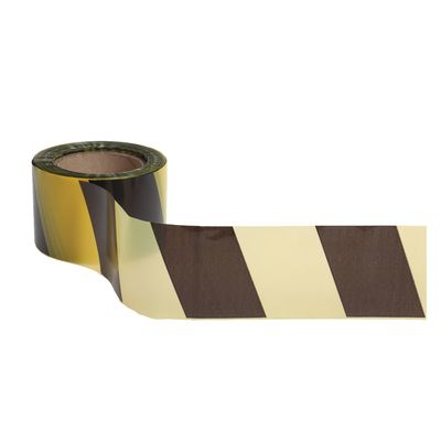 Лента оградительная, чёрно-желтая, ширина 7,5 см, 100 м
