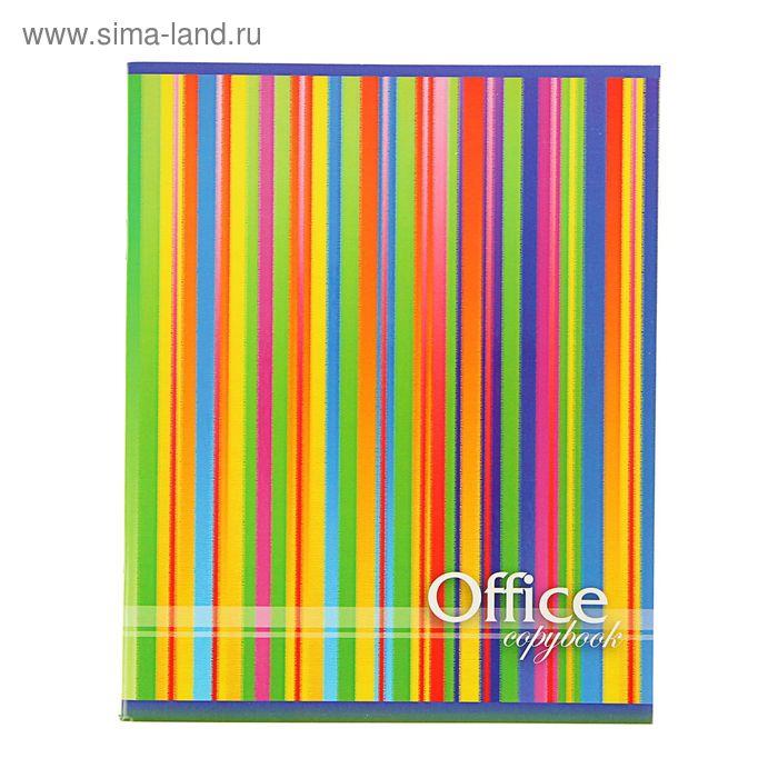Тетрадь 48 листов клетка Color lines, картонная обложка, выборочный УФ-лак, МИКС