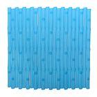 Коврик на присосках 50х50 см, цвет голубой