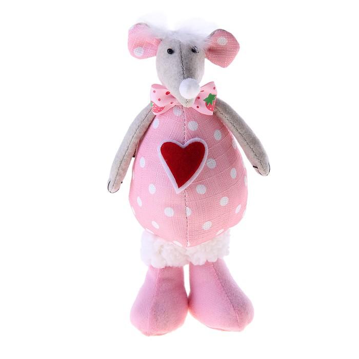 """Кукла """"Мышонок с сердечками"""""""