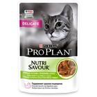 Влажный корм PRO PLAN DELICATE для кошек, ягненок в соусе, пауч, 85 г