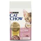 Сухой корм CAT CHOW KITTEN для котят, птица, 1.5 кг