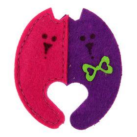 """Игрушка для кошек """"Две кошки"""" из фетра с кошачьей мятой, 7 х 8,5 см"""