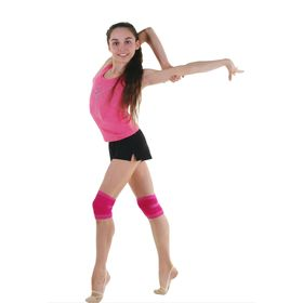 Наколенник гимнастический, размер XS, цвет фуксия