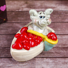 """Сувенир """"Слонёнок. Радость в лодке с сердечками"""""""