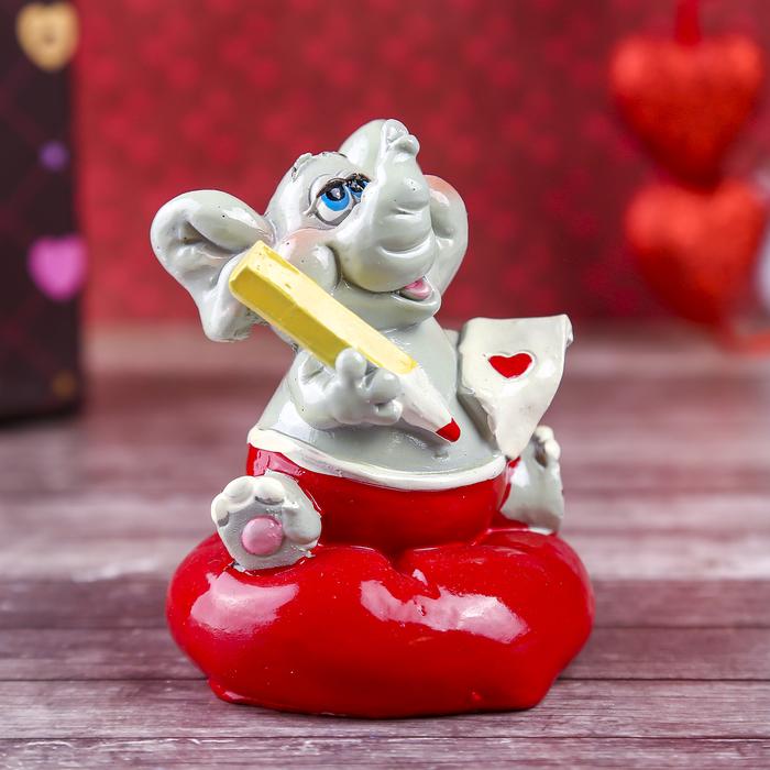 """Сувенир """"Слонёнок. Радость с запиской-валентинкой"""""""