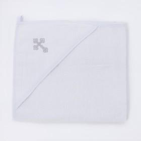 Полотенце-уголок для крещения «Эдельвейс», размер 80х90 см