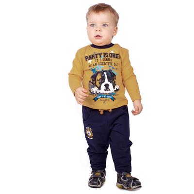 """Джемпер для мальчика """"В Лондон"""", рост 74 см (48), цвет тёмно-жёлтый ЮДД346067_М"""