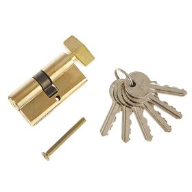 Цилиндровый механизм AL 60 РB, английский ключ, с вертушкой, цвет латунь