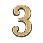"""Цифра дверная """"3"""", малая, пластик, самоклеящаяся"""