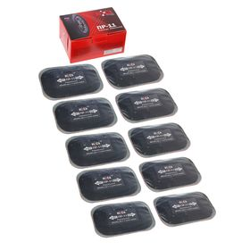 Пластырь резинокордный ПР-11, для радиальных шин, 65x95 мм, 1 слой корда, набор 10 шт.