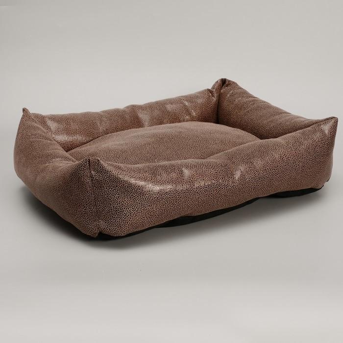 "Лежанка ""Кобра"", 53 х 44 х 11 см, мебельная ткань,  микс цветов"