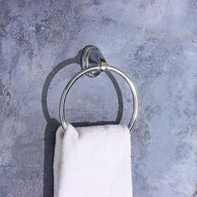 Держатель для полотенец одинарный, кольцо «Шарм» - фото 4648456