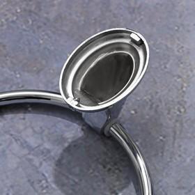 Держатель для полотенец одинарный, кольцо «Шарм» - фото 4648459