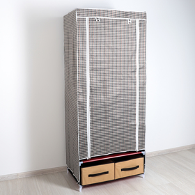 Шкаф для одежды и обуви, 75×45×175 см, 2 ящика, цвет МИКС