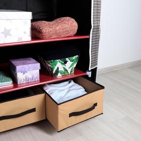 Шкаф для одежды и обуви 75×45×175 см, 2 ящика, цвет МИКС - фото 4640593