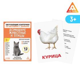 Обучающие карточки по методике Г. Домана «Домашние животные и птицы», 12 карт, А6
