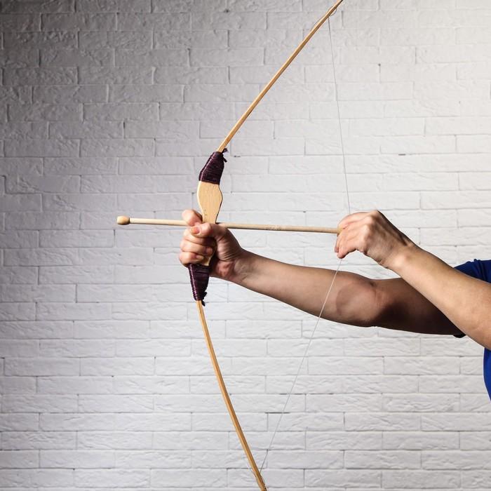 """Сувенир деревянный """"Лук со стрелами"""", 82 см"""