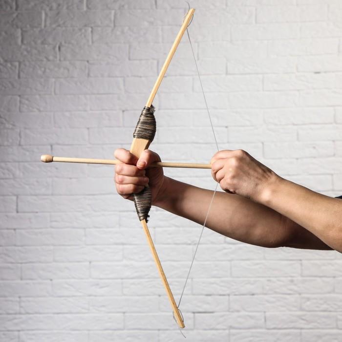 """Сувенир деревянный """"Лук со стрелами"""", 55 см"""