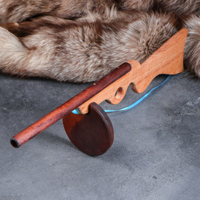 """Сувенирное деревянное оружие """"Автомат ППШ"""", 51 см, массив бука"""