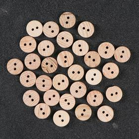 Button wooden, 2 punctures, 16 mm.