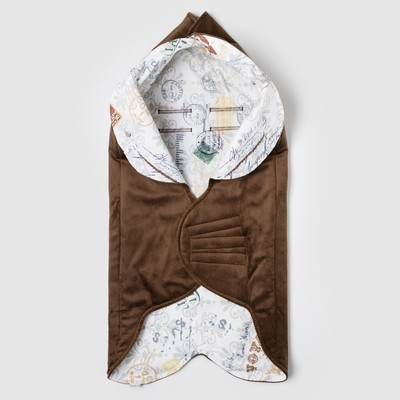 """Одеяло конверт трансформер """"Лондон. Солнце"""" летний, цвет коричневый ОКт/ДС"""
