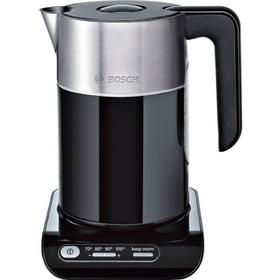 Чайник электрический Bosch TWK8613P, пластик, колба металл, 1.5 л, 2400 Вт, черный