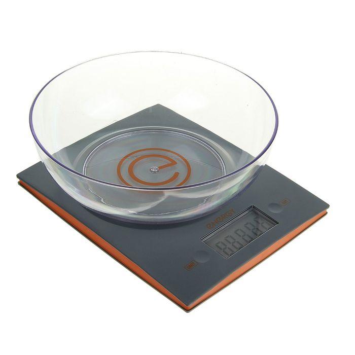 Весы кухонные электронные ENERGY EN-424, сенсорные, до 5 кг, чаша 2 л, серые