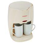 Кофеварка ENERGY EN-601, 450 Вт, 2 чашки, резервуар 280 мл, кремовая