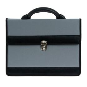 "Портфель деловой ткань 350 х 260 х 100 мм,""Приморск"", серый"