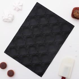 """Коврик текстурный 25х18х0,5 см """"Метлассе"""", цвет черный"""