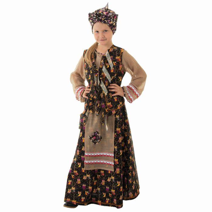 """Детский карнавальный костюм """"Баба-яга"""", р-р 64, рост 122-128 см"""