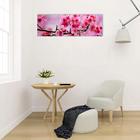 """Модульная картина на подрамнике """"Сакура в цветах"""", 3 шт. — 50×50 см, 50×150 см"""