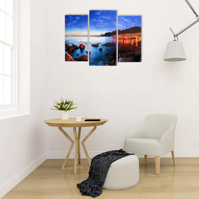 "Картина модульная на подрамнике ""Скалистый берег"" 2шт-25х50, 1шт-30х60 ;60*80 см"