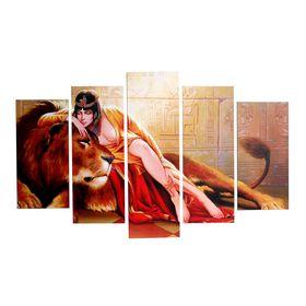 "Картина модульная на подрамнике ""Клеопатра"" 2шт-25х52; 2шт-25х67; 1шт-25х80см  80*125 см"