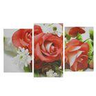 Модульная картина на подрамнике «Букет роз», 33 × 50 (2 шт.), 33 × 60 см (1 шт.), 100 × 60 см (1 шт.)