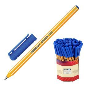 """Ручка шариковая масляная Pensan """"Officepen"""", чернила синие, корпус оранжевый, узел 1 мм, линия 0,8 мм, дисплей"""