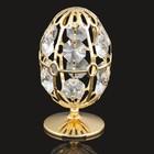 Сувенир «Яйцо», на подставке, 5,5×4,5×8 см, с кристаллами Сваровски