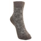 Носки детские шерстяные Фактурная вязка, цвет серый, размер 20