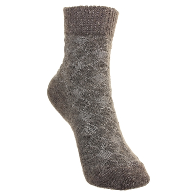 Носки детские шерстяные Фактурная вязка, цвет серый, размер 14