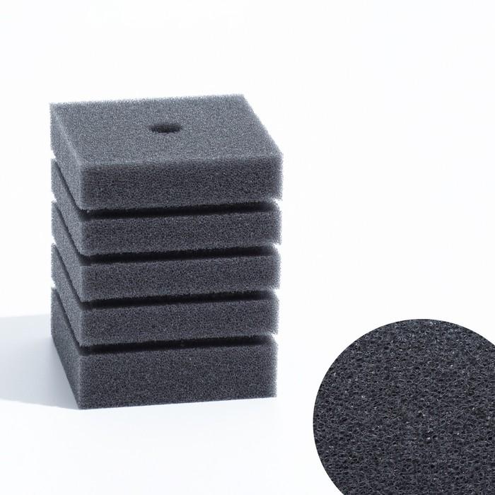 Губка прямоугольная для фильтра турбо №7, 8х8х10 см