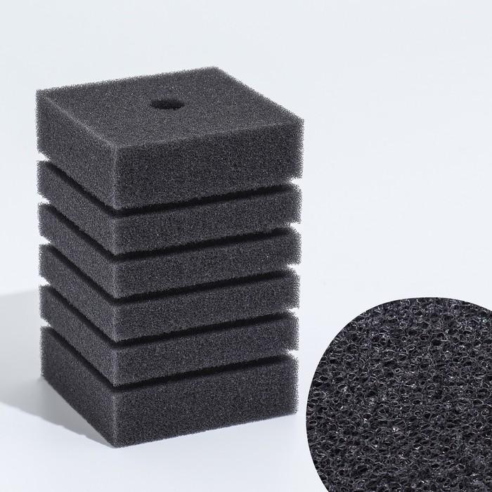 Губка прямоугольная для фильтра турбо №8, 12,3х8х8 см