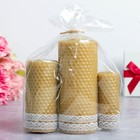 Candles from honeycombs