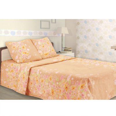 Постельное бельё 1,5 сп, Samy «Полевые цветы», цвет персиковый, 147х215 см, 150х215 см, 70х70 см — 2 шт