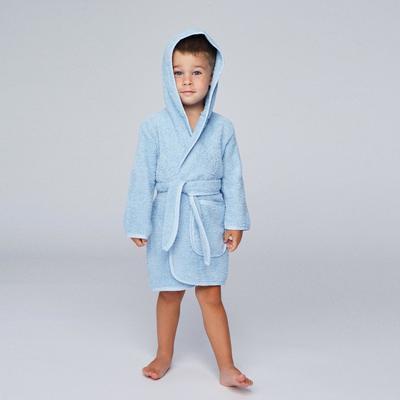 Халат махровый для мальчика, рост 104-110 см, цвет голубой К07