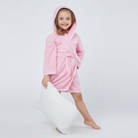 Халат махровый для девочки, рост 104-110 см, цвет розовый К07