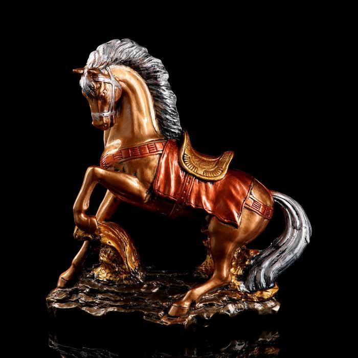 """Сувенир """"Конь на дыбах"""" 36 см, цвет бронзовый"""