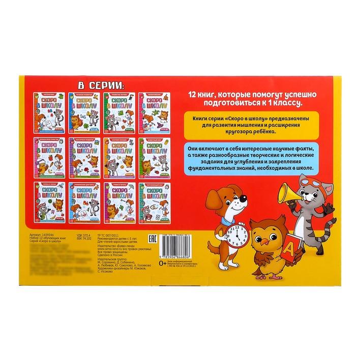 Книги развивающие набор «Всё для подготовки к школе», 12 книг по 16 стр. - фото 370078324